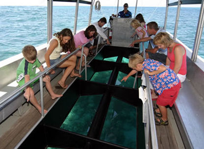 family bali tours-Glass Bottom Boat